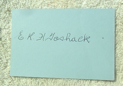 AU50 • Buy Rare Ernie Toshack Cricket Signed In Person Index Card Invincibles Ashes Test