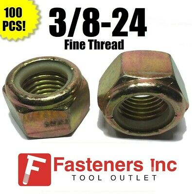 25 3//8-16 Grade 8 All Metal Flange Lock Nut Wiz Nuts 25 pcs   3//8 x 16