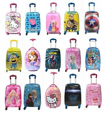 Children Kids Holiday Travel Hard Shell Suitcase Luggage Trolley Bags UK STOCK • 28.99£