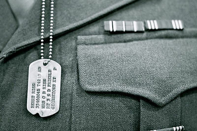 $24.99 • Buy WWII Style Military Notched Dog Tags / Personalized / NEW