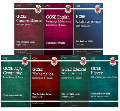 £59.99 • Buy GCSE The Revision Guide Collection 7 Books Set, Maths,Geography,Core Science NEW