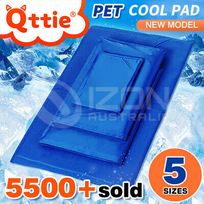 AU38.95 • Buy Pet Cool Gel Mat Dog Cat Bed Non-Toxic Cooling Dog Summer Pad 5 Sizes FAST POST
