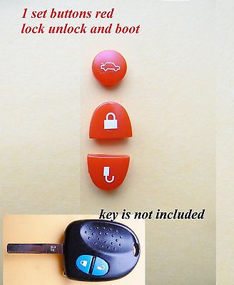 AU7 • Buy 3 X SETS Holden Commodore Repair Set Key Buttons Red For VS VT VX VY VZ WH WK