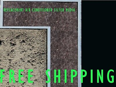AU20.99 • Buy Air Conditioner Return Air Filter Media Material Aircon 400x750mm Replacement