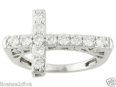 $389.99 • Buy Sterling Silver Charles Winston Fire Cross Band Ring Size 7 Lifetime Warranty