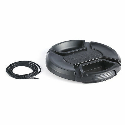 AU4.08 • Buy 43mm Center-Pinch Snap-On Front Lens Cap For Nikon Canon Sony Camera Lens