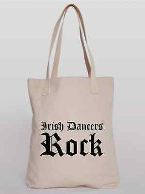 $4.79 • Buy Irish Dancing Tote Shopping Bag Printed Irish Dancers Rock