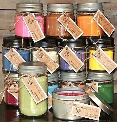 Maple Creek Candles PUMPKIN, VANILLA, BROWN SUGAR, CARAMEL Pick Size And Scent • 10.85£