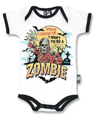 Six Bunnies Zombie Vest Alternative Baby Clothes Goth Rock Punk Metal Horror • 17.90£