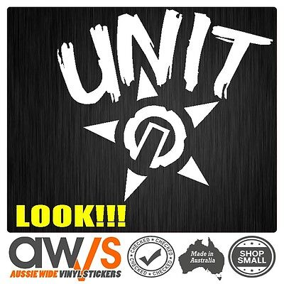 AU5 • Buy UNIT MX Sticker Decal GRAF LARGE ANY COLOUR For FOR MX LKI Motocross Gear Car