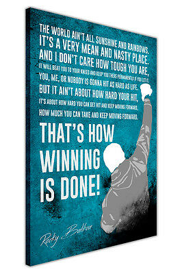 £9.99 • Buy Distressed Rocky Balboa Movie Quote Canvas Wall Art Pictures Boxing Prints Deco