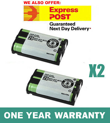 AU9.40 • Buy 2X Battery FOR Panasonic HHR-P104 Cordless Phone Compatible Ni-MH 3.6V 900mAh