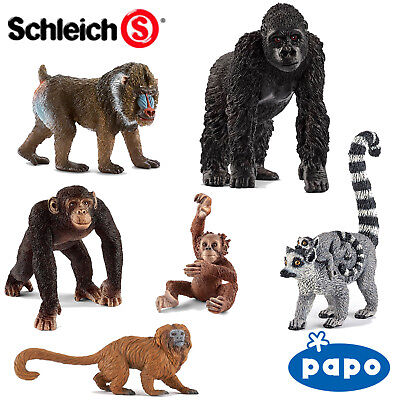 £4.49 • Buy SCHLEICH / PAPO World Of Nature PRIMATES Choose From 14 Different Apes With Tags