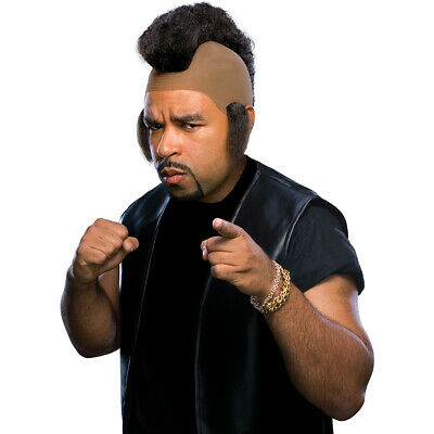 $14.95 • Buy Mr T Wig Men's A-Team Adult Classic Hammer Afro Mohawk Costume Accessory