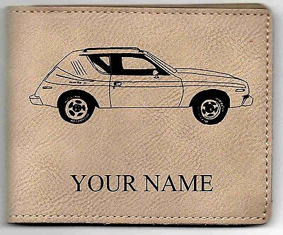 $18.24 • Buy AMC Gremlin X Leather Billfold With Drawing And Your Name On It-Nice Quality