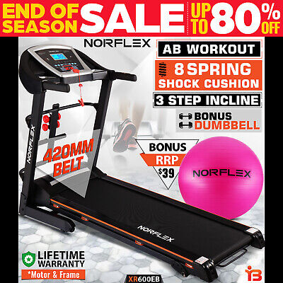 AU499 • Buy NORFLEX Electric Treadmill Incline Home Gym Exercise Machine Fitness Equipment