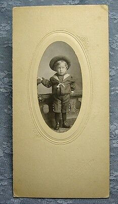$9.99 • Buy Antique PHOTOGRAPH YOUNG BOY IN SAILOR OUTFIT Post's Studio Denver Circa 1905ish