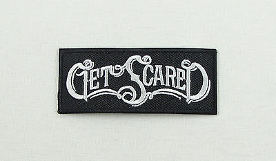 £1.99 • Buy GET SCARED Iron On Sew On Embroidered Patch Hardcore Music Band