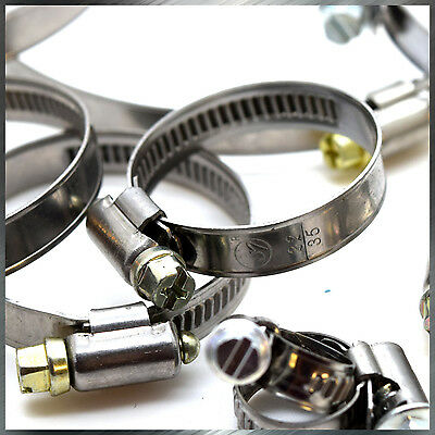 Heavy Duty Stainless Steel Hose Clamps High Quality Pipe Tube Clips Wide Range • 6.58£