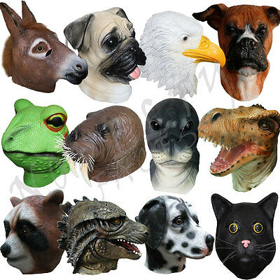 Latex Fancy Animal Head Party Dress Up Cosplay Masquerdae Carnival Costume Masks • 18.99£