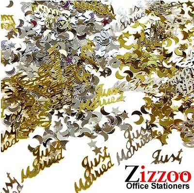 £1.49 • Buy Just Married Wedding Confetti Gold And Silver Table Decoration Or Card Filler