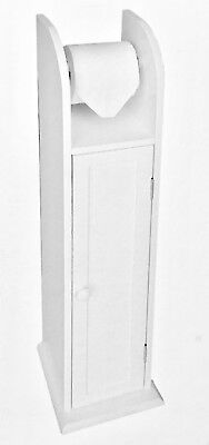 Toilet Roll Holder With Cabinet Storage Free Standing Dual Function • 21.99£