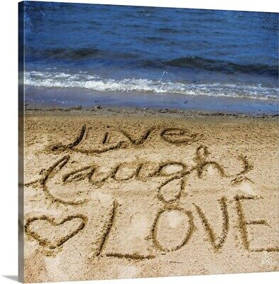 Live Laugh Love In The Sand Canvas Wall Art Print, Inspirational Home Decor • 21.27£