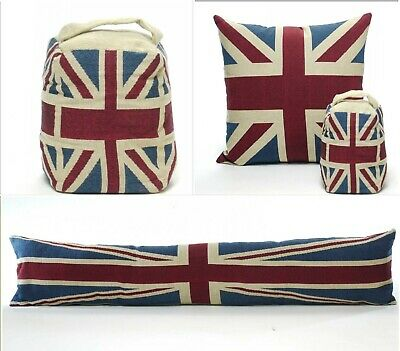 Vintage Union Jack Cushion Or Cover  Door Stop And Draught Excluder  • 6.99£