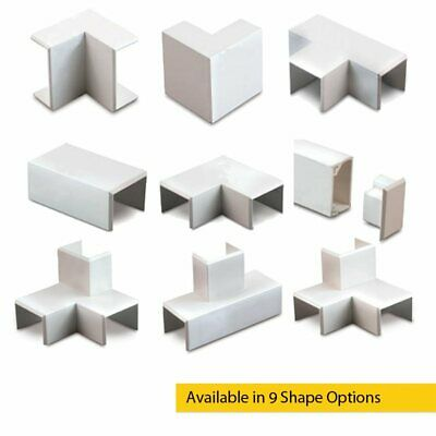 £2.81 • Buy 25 X 16 PVC Mini Cable Trunking Shapes Connectors For Energy And Data Cables
