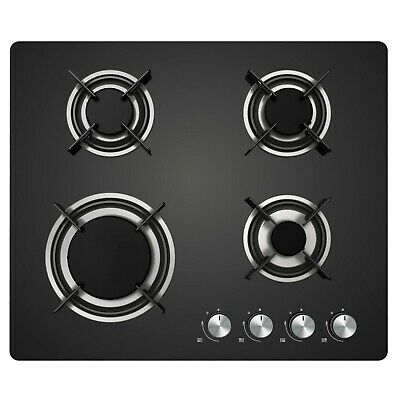 £129.99 • Buy 60cm Cookology Gas On Glass Hob GGH600BK   Built-in, Black Glass & Auto Ignition