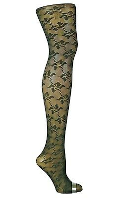 £3.79 • Buy  Womens Ladies Black Patterned Tights  Plus Size Xl  L19