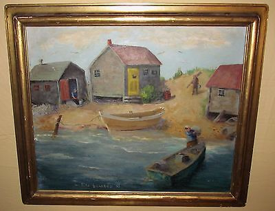 $1275 • Buy Impressionist American Signed Seascape  Antique Painting Of Provincetown Ma