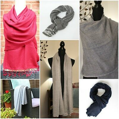£44.99 • Buy Pure Cashmere Pashmina  Luxury Thick Winter Scarf Shawl Wrap ''IDEAL GIFT''