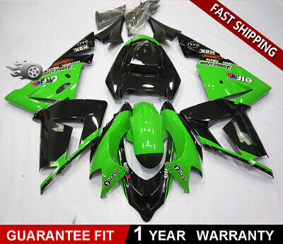 $464.34 • Buy Bodywork Fairing Kit For KAWASAKI NINJA ZX-10R 2004 2005 ABS Black Green Molded