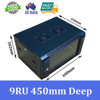 AU209 • Buy 9U 9RU 19 Inch 450mm Deep Wall Mount Rack Cabinet For Networking And Comms