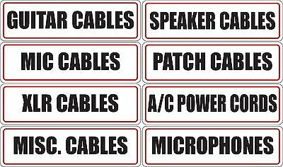 £5.79 • Buy Microphone Patch XLR Guitar Speaker Cable Label Stickers For Organization