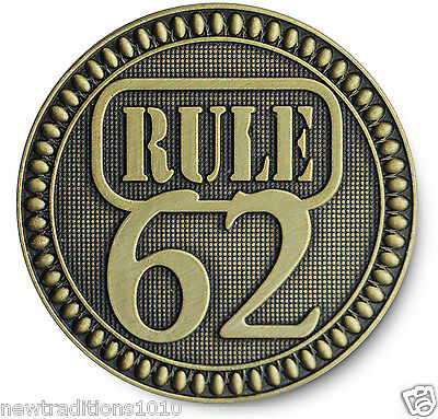$5.99 • Buy Antiqued Bronze ' RULE 62  AA/NA/12 Step Recovery Program Coin /Token/Chip