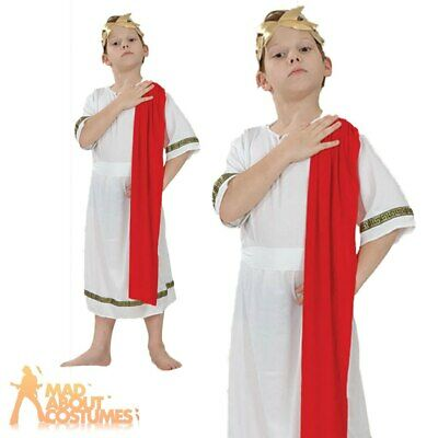 £7.99 • Buy Child Roman Emperor Costume Greek Toga Boys Book Week Day Fancy Dress Outfit New