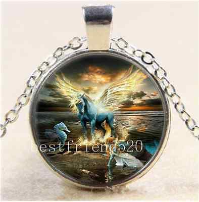 £1.85 • Buy Cabochon Glass Tibet Silver Chain Pendant  Necklace