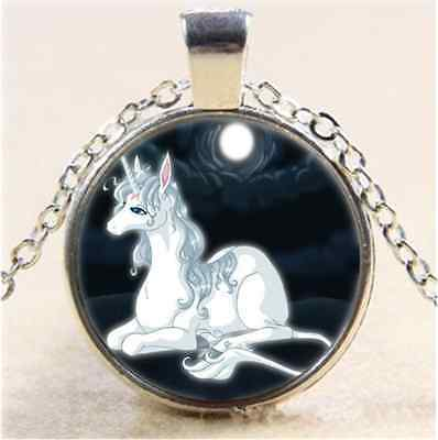 £1.74 • Buy Cabochon Glass Tibet Silver Chain Pendant  Necklace