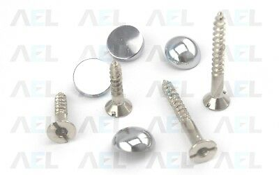 £2.31 • Buy Mirror Screws Choose - Size/Type Available Flat,Dome,Chrome & Brass High Quality