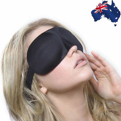 AU3.15 • Buy Sleeping Eye Masks Black 3D Eyes Mask Cover Padded Blindfold Nap Rest HXEYE 2495