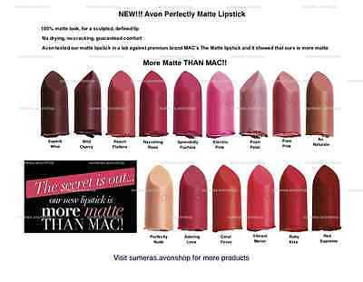 £1.45 • Buy New Avon Perfectly Matte Lipstick Various Colours ~ Full & Sample Size Available