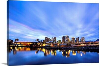 £65.30 • Buy Downtown And British Columbia Place Canvas Wall Art Print, Skyline Home Decor