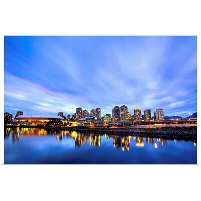 £31.23 • Buy Downtown And British Columbia Place Poster Art Print, Skyline Home Decor