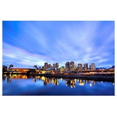 Downtown And British Columbia Place Poster Art Print, Skyline Home Decor • 42.47£