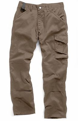 New Scruff Work Trouser Brown Cardo Combat Work Pants 32  Leg Kneepad Pockets... • 500£