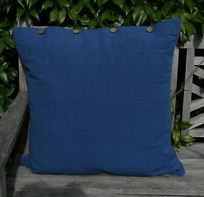 AU39.95 • Buy Large Cushion Cover 'blue Moon' 60 X 60 Cm - A Deep Blue Colour - Daybed, Couch