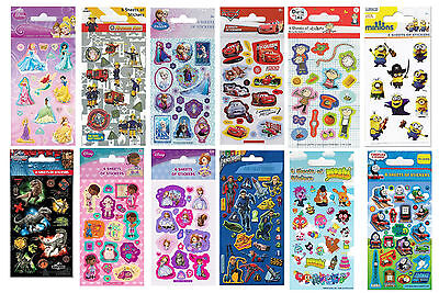 Childrens Character Fun Stickers 6 Sheets Party Pack Loot Bag Fillers • 2.09£