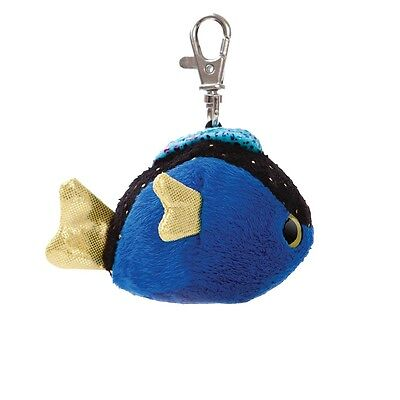 YooHoo And Friends 3  Tangee Blue Tang Fish Keyring/Keyclip Soft Toy By AURORA • 4.95£